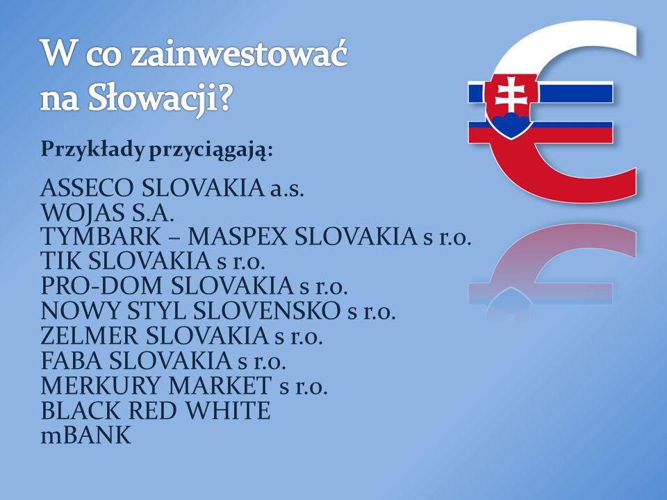 Przykłady przyciągają: ASSECO SLOVAKIA a.s. WOJAS S.A.