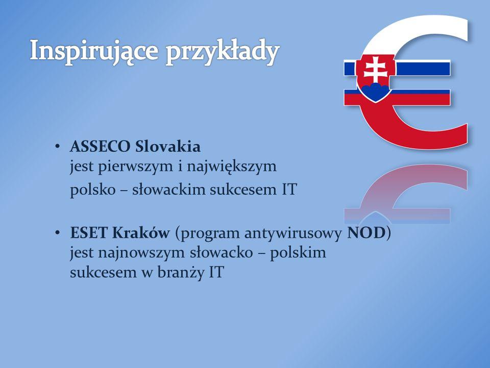 ASSECO Slovakia jest pierwszym i największym polsko – słowackim sukcesem IT ESET Kraków (program antywirusowy NOD) jest najnowszym słowacko – polskim sukcesem w branży IT