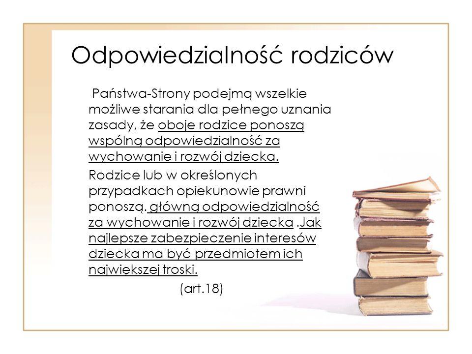Prawo polskie Konstytucja Rzeczypospolitej Polskiej Ustawa o systemie oświaty