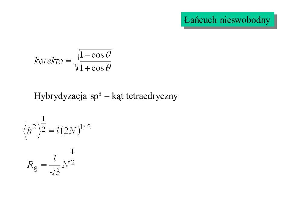 Łańcuch nieswobodny Hybrydyzacja sp 3 – kąt tetraedryczny