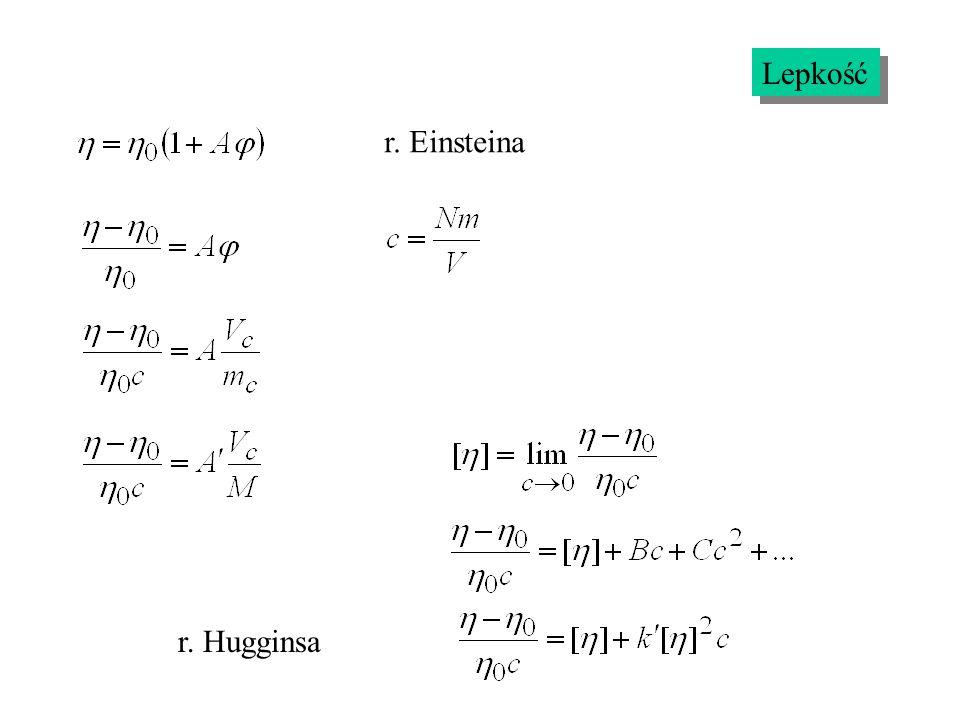 r. Einsteina r. Hugginsa