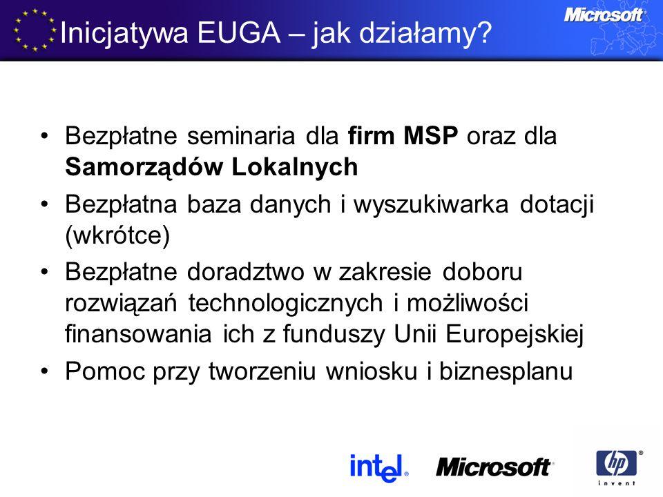 Bezpłatne seminaria dla firm MSP oraz dla Samorządów Lokalnych Bezpłatna baza danych i wyszukiwarka dotacji (wkrótce) Bezpłatne doradztwo w zakresie d