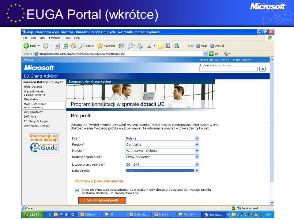 EUGA Portal (wkrótce)