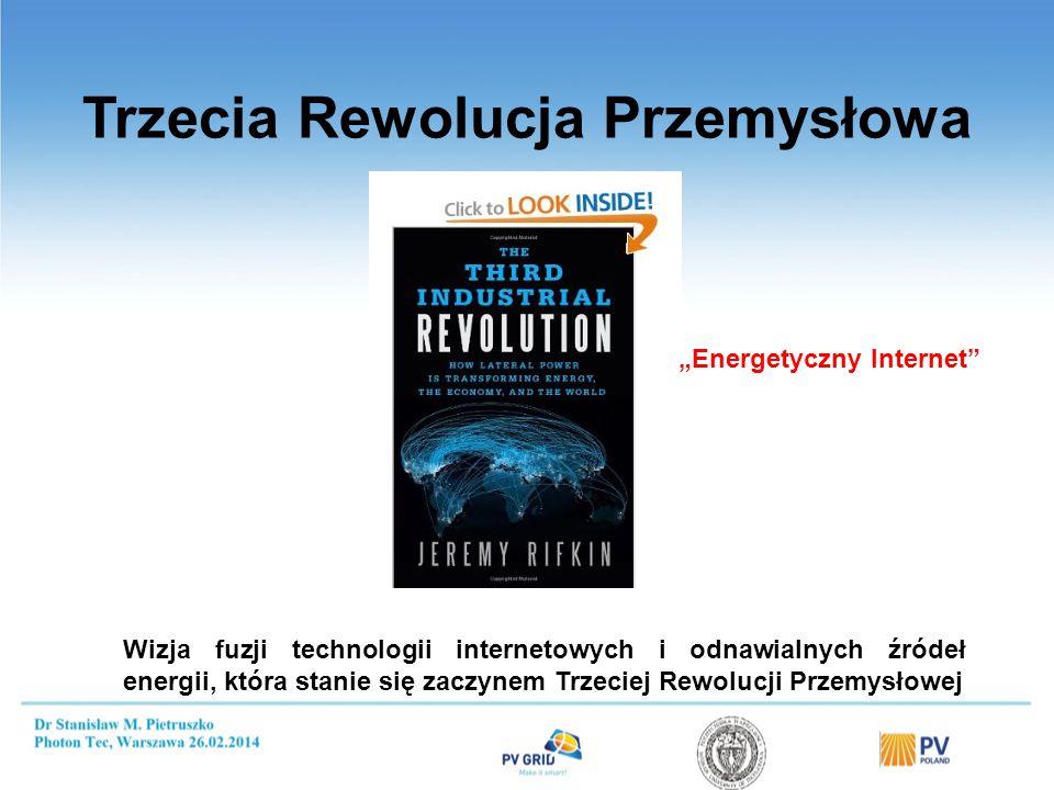 Trzecia Rewolucja Przemysłowa Wizja fuzji technologii internetowych i odnawialnych źródeł energii, która stanie się zaczynem Trzeciej Rewolucji Przemysłowej Energetyczny Internet