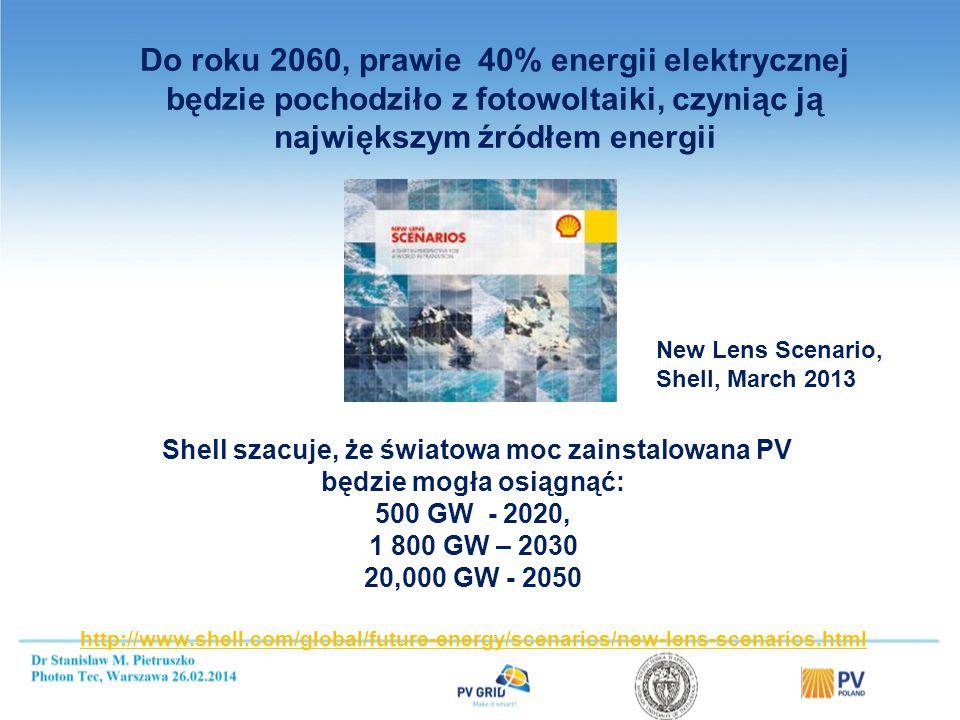 Niemcy 2013 (plan 2,5 - 3,5 GW) - 3,3 GW; 35,6 GW – moc całkowita W grudniu 2013 łączna moc 166,0 MW 18 systemów 1 - 10 MW, 182 systemów 100 kW - 1 MW 6.740 systemów poniżej 100 kW