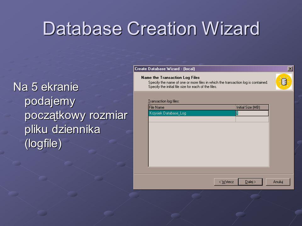 Zarządzanie bazą Polecenie SHRINKDATABASE zmniejsza wszystkie pliki danych w bazie, pozostawiając wyznaczony procent wolnej przestrzeni.
