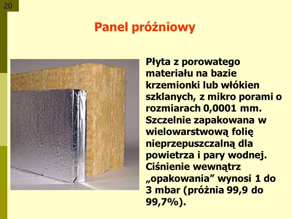 20 Płyta z porowatego materiału na bazie krzemionki lub włókien szklanych, z mikro porami o rozmiarach 0,0001 mm. Szczelnie zapakowana w wielowarstwow