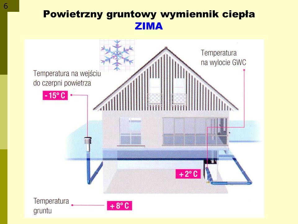 6 Powietrzny gruntowy wymiennik ciepła ZIMA