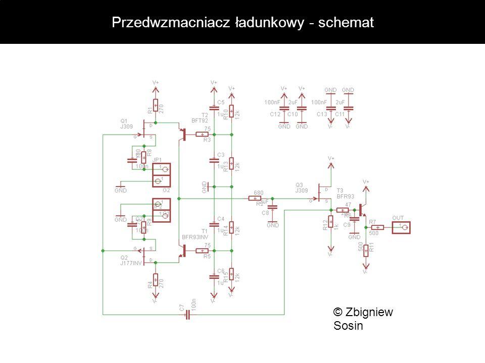Przedwzmacniacz ładunkowy - schemat © Zbigniew Sosin
