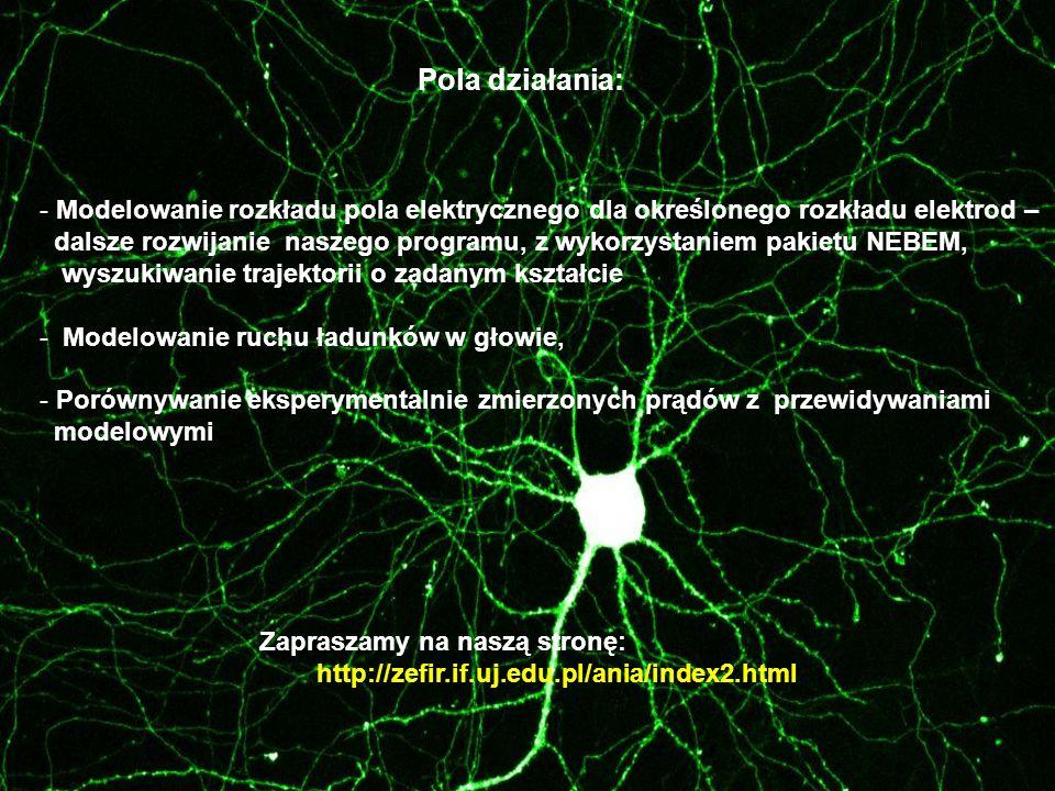 - Modelowanie rozkładu pola elektrycznego dla określonego rozkładu elektrod – dalsze rozwijanie naszego programu, z wykorzystaniem pakietu NEBEM, wysz