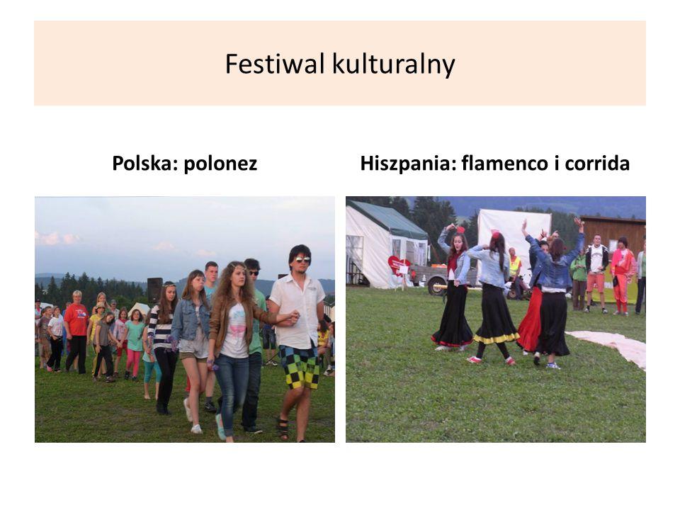 Festiwal kulturalny Polska: polonezHiszpania: flamenco i corrida