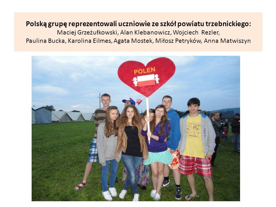 Polską grupę reprezentowali uczniowie ze szkół powiatu trzebnickiego: Maciej Grzeżułkowski, Alan Klebanowicz, Wojciech Rezler, Paulina Bucka, Karolina