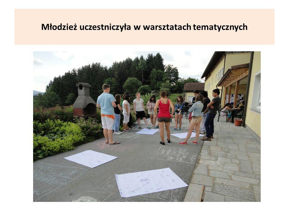 Młodzież uczestniczyła w warsztatach tematycznych