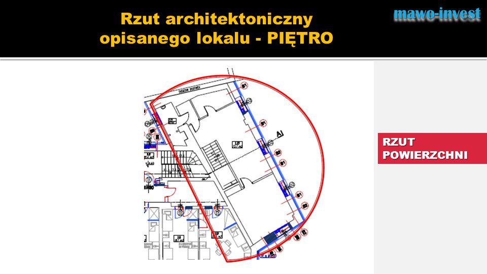 mawo-investmawo-invest RZUT POWIERZCHNI Rzut architektoniczny opisanego lokalu - PIĘTRO