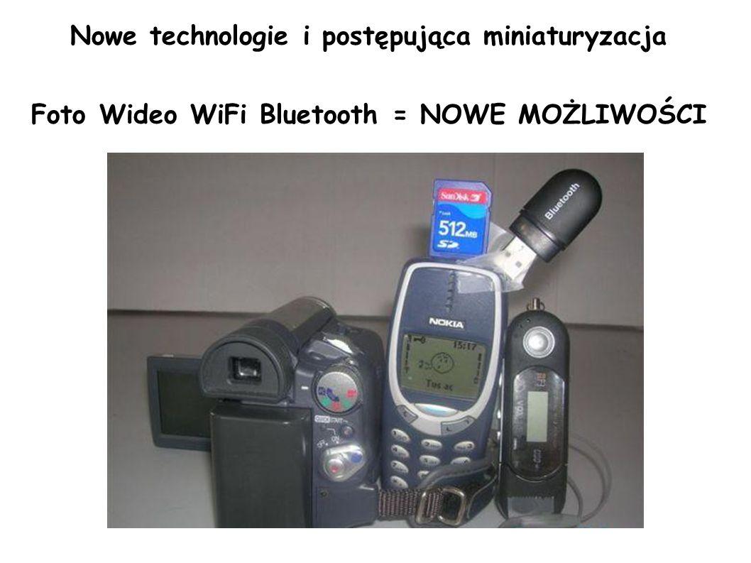 Nowe technologie i postępująca miniaturyzacja Foto Wideo WiFi Bluetooth = NOWE MOŻLIWOŚCI