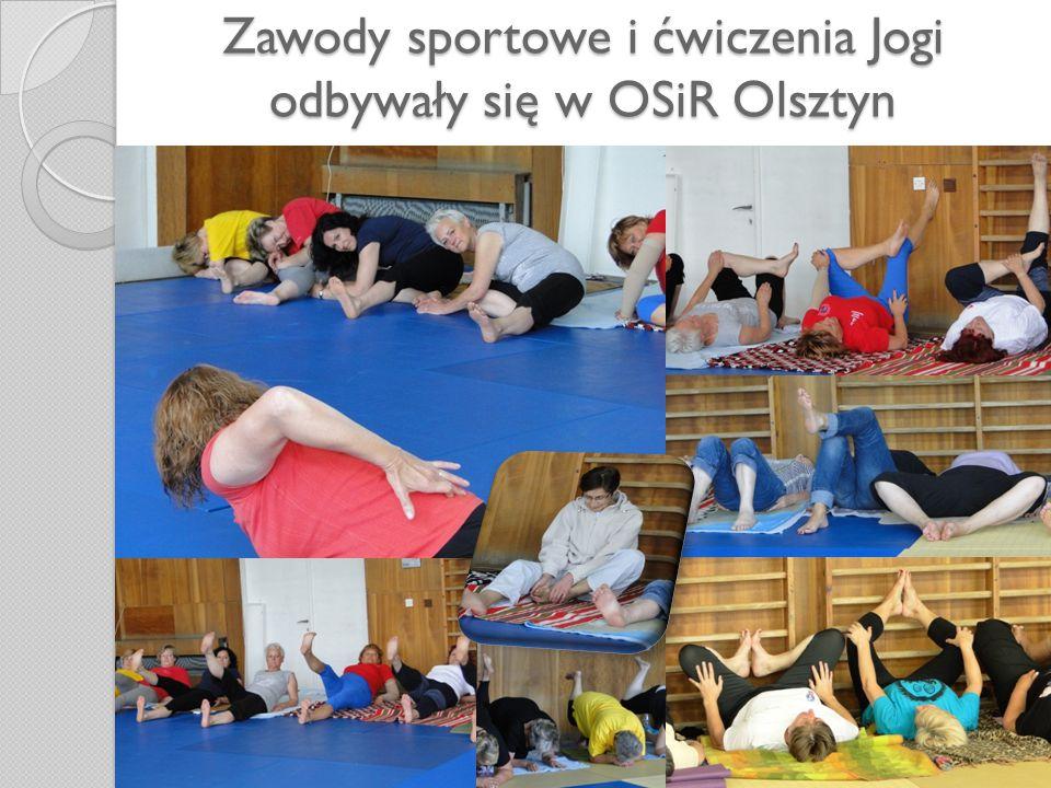 Zawody sportowe i ćwiczenia Jogi odbywały się w OSiR Olsztyn