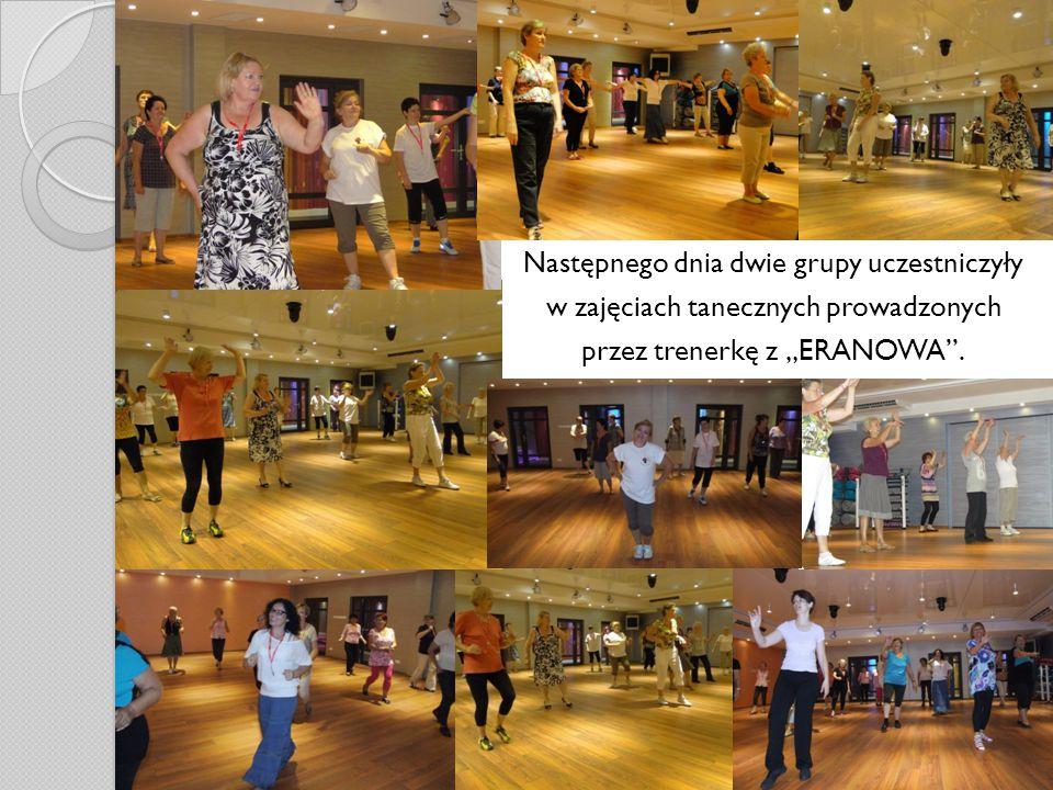 """Następnego dnia dwie grupy uczestniczyły w zajęciach tanecznych prowadzonych przez trenerkę z """"ERANOWA ."""