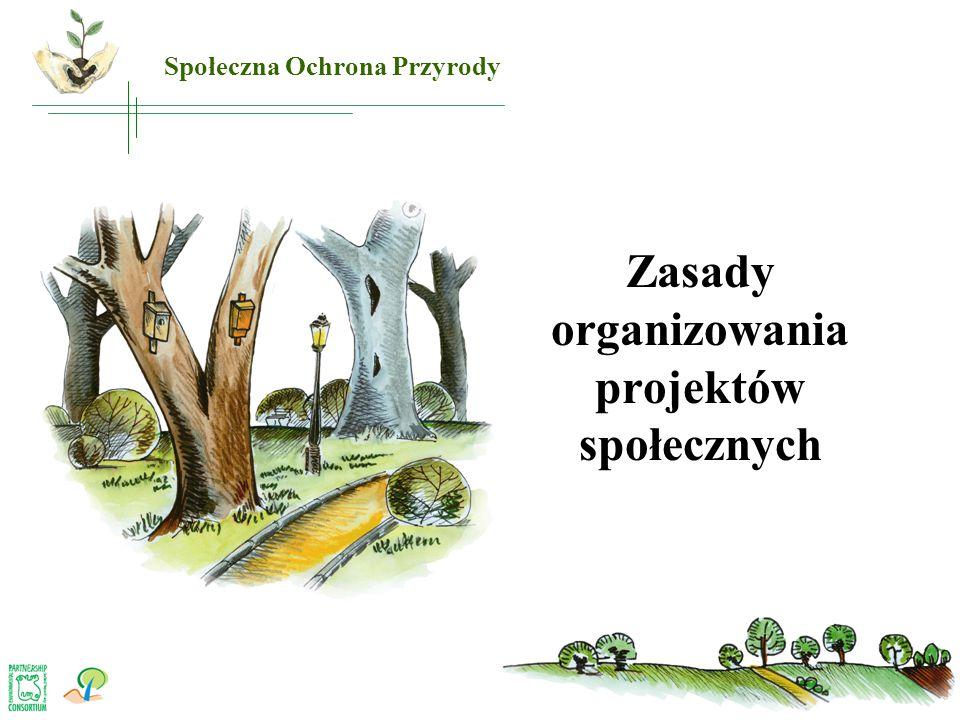 Zasady organizowania projektów społecznych Społeczna Ochrona Przyrody