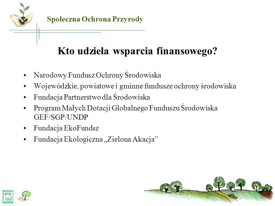 Kto udziela wsparcia finansowego? •Narodowy Fundusz Ochrony Środowiska •Wojewódzkie, powiatowe i gminne fundusze ochrony środowiska •Fundacja Partners