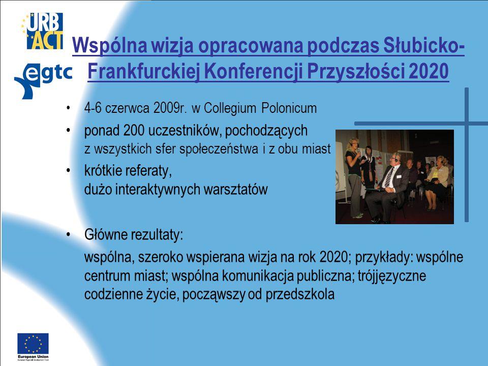 Wspólna wizja opracowana podczas Słubicko- Frankfurckiej Konferencji Przyszłości 2020 •4-6 czerwca 2009r.