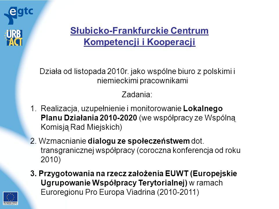 Słubicko-Frankfurckie Centrum Kompetencji i Kooperacji Działa od listopada 2010r.