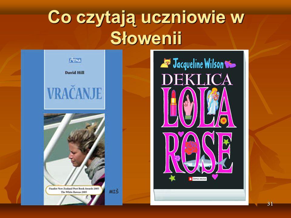 31 Co czytają uczniowie w Słowenii