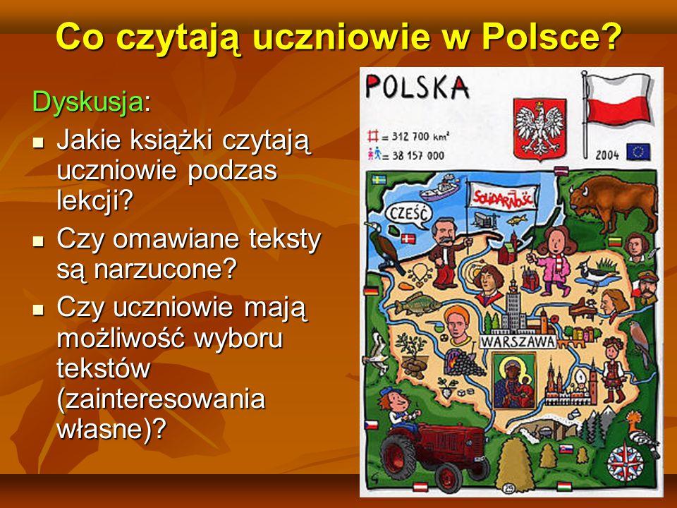 35 Co czytają uczniowie w Polsce.Dyskusja:  Jakie książki czytają uczniowie podzas lekcji.