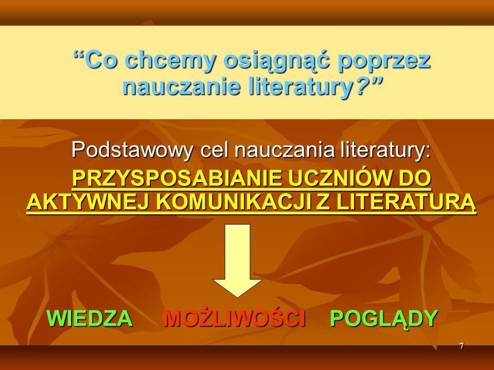 28 Polisemia/wieloznaczeniowość Literatura jest autonomiczna, zdekontekstualizowana – jej celem jest estetyczna przyjemnosć.