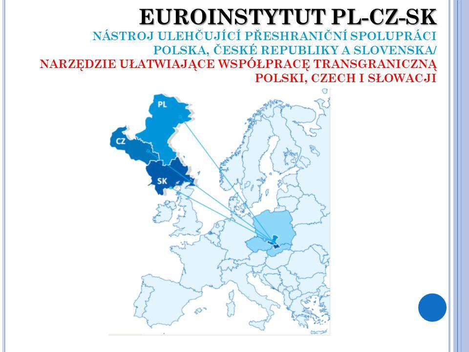 EUROINSTYTUT PL-CZ-SK EUROINSTYTUT PL-CZ-SK NÁSTROJ ULEHČUJÍCÍ PŘESHRANIČNÍ SPOLUPRÁCI POLSKA, ČESKÉ REPUBLIKY A SLOVENSKA/ NARZĘDZIE UŁATWIAJĄCE WSPÓŁPRACĘ TRANSGRANICZNĄ POLSKI, CZECH I SŁOWACJI