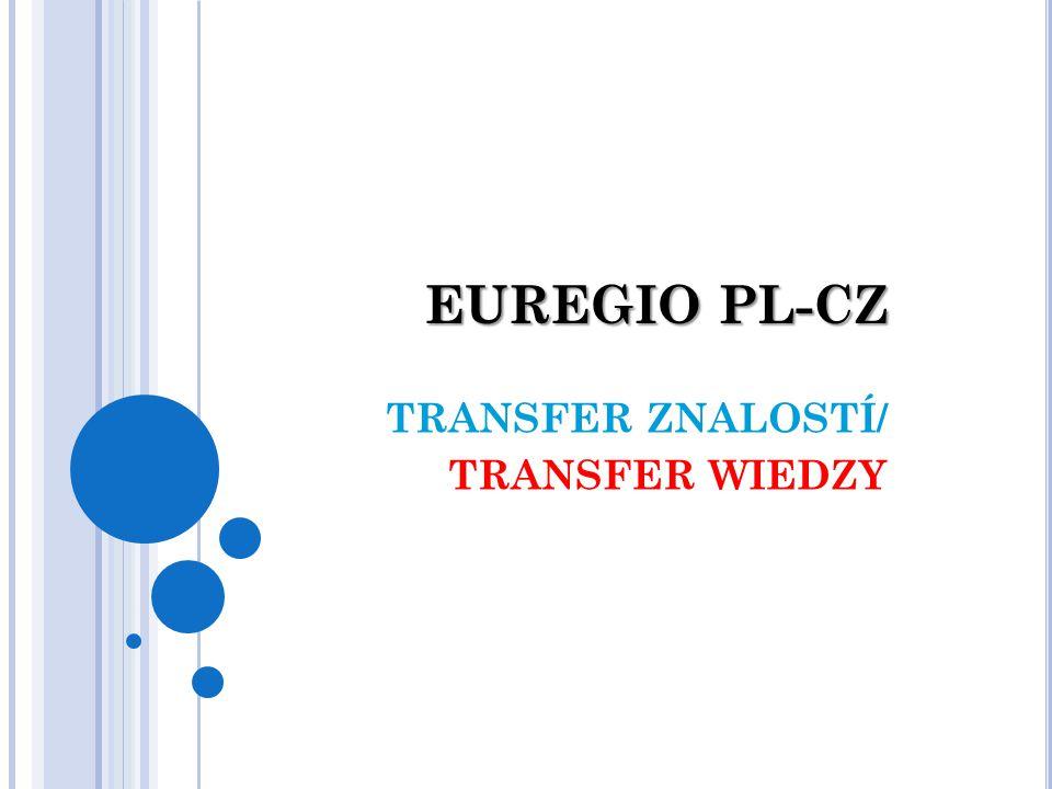 EUREGIO PL-CZ TRANSFER ZNALOSTÍ/ TRANSFER WIEDZY