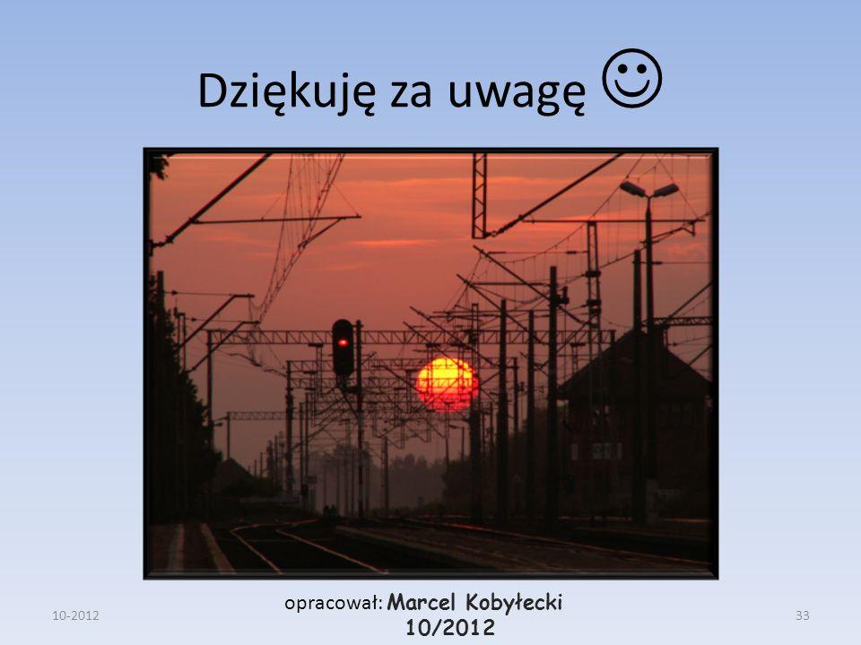 Dziękuję za uwagę opracował: Marcel Kobyłecki 10/2012 10-201233