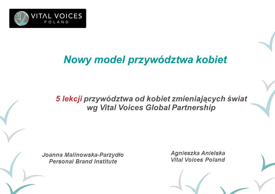 Agnieszka Anielska Vital Voices Poland Nowy model przywództwa kobiet Joanna Malinowska-Parzydło Personal Brand Institute 5 lekcji przywództwa od kobie