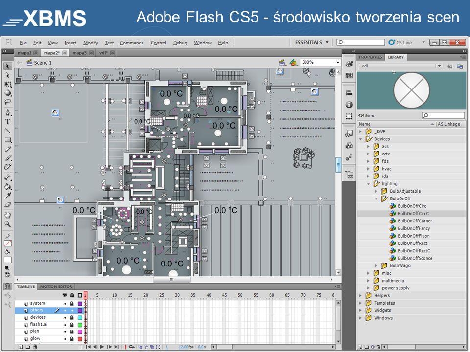 Adobe Flash CS5 - środowisko tworzenia scen