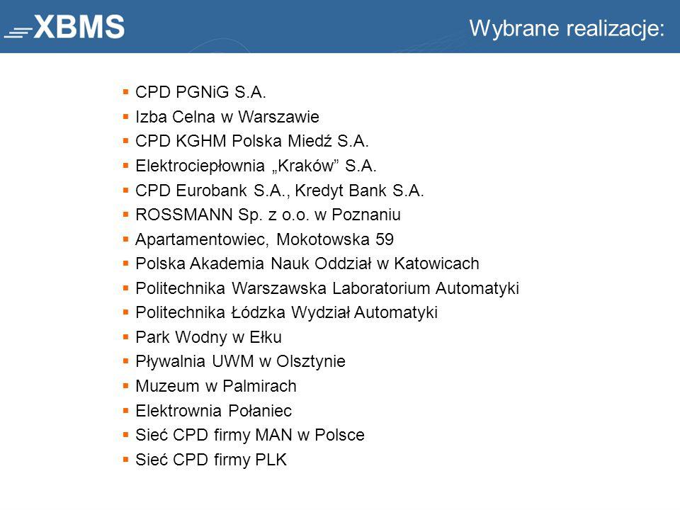 """ CPD PGNiG S.A.  Izba Celna w Warszawie  CPD KGHM Polska Miedź S.A.  Elektrociepłownia """"Kraków"""" S.A.  CPD Eurobank S.A., Kredyt Bank S.A.  ROSSM"""