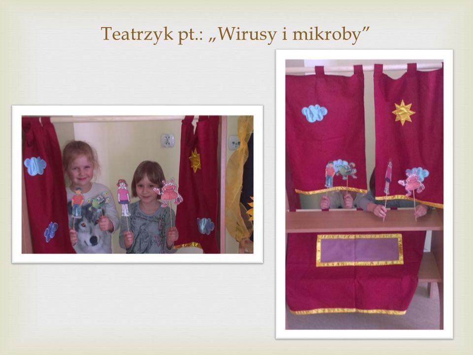 """Teatrzyk pt.: """"Wirusy i mikroby"""""""