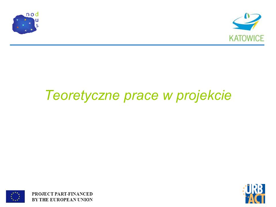 PROJECT PART-FINANCED BY THE EUROPEAN UNION Teoretyczne prace w projekcie