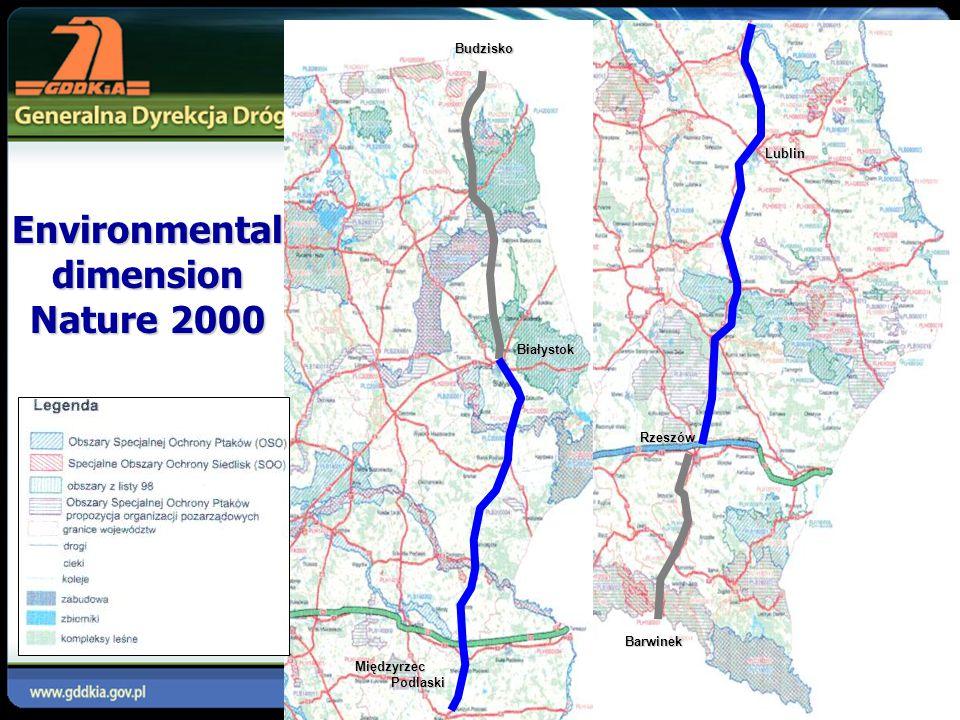 Environmental dimension Nature 2000 Białystok Budzisko Międzyrzec Podlaski Lublin Rzeszów Barwinek