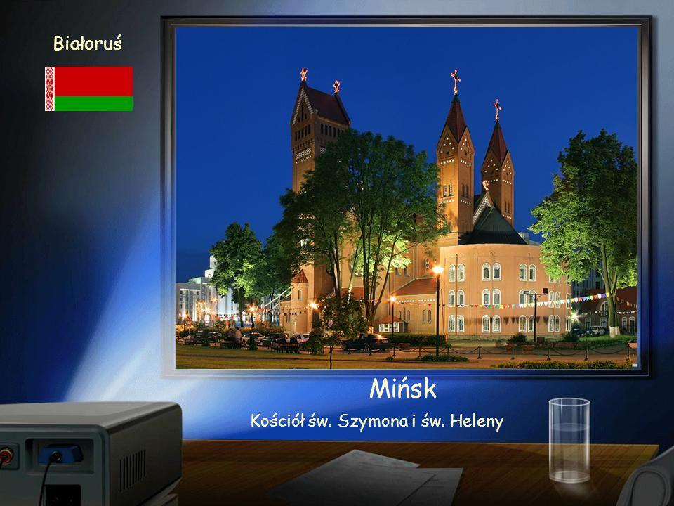 Białoruś Mińsk Ratusz x XVIII w - rekonstrukcja