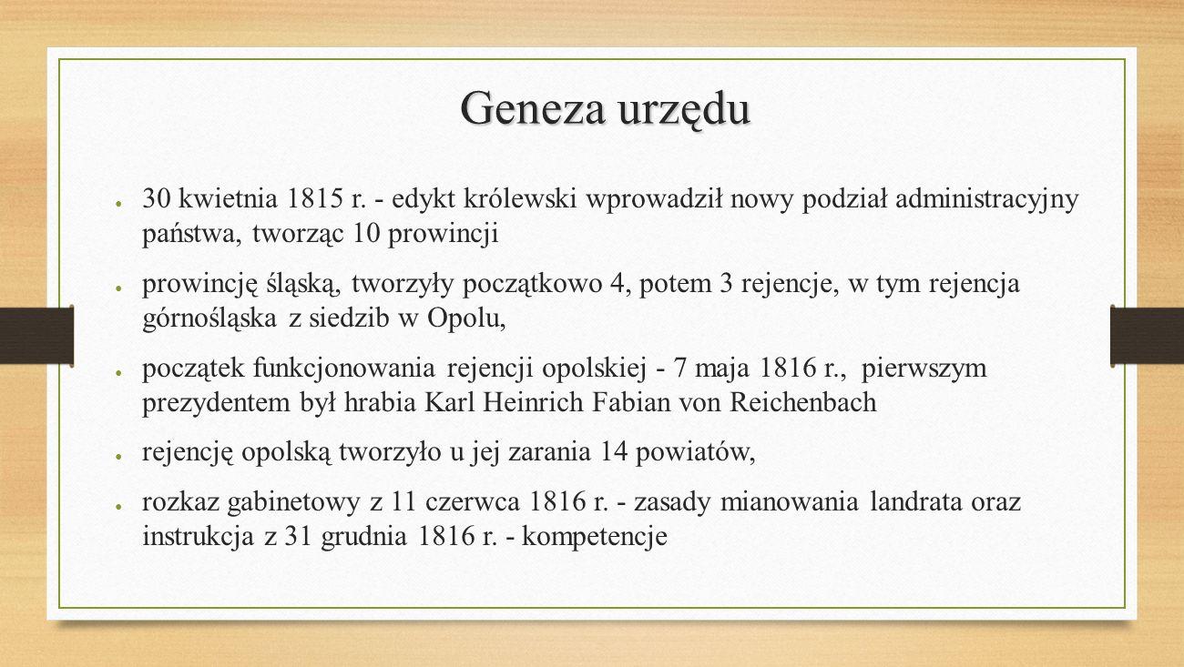 Landratura opolska dziś Kamienica przy ul. Krakowskiej 53