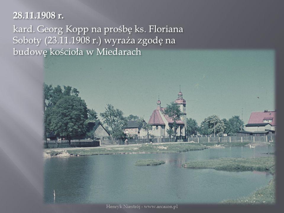 28.11.1908 r.kard. Georg Kopp na prośbę ks.