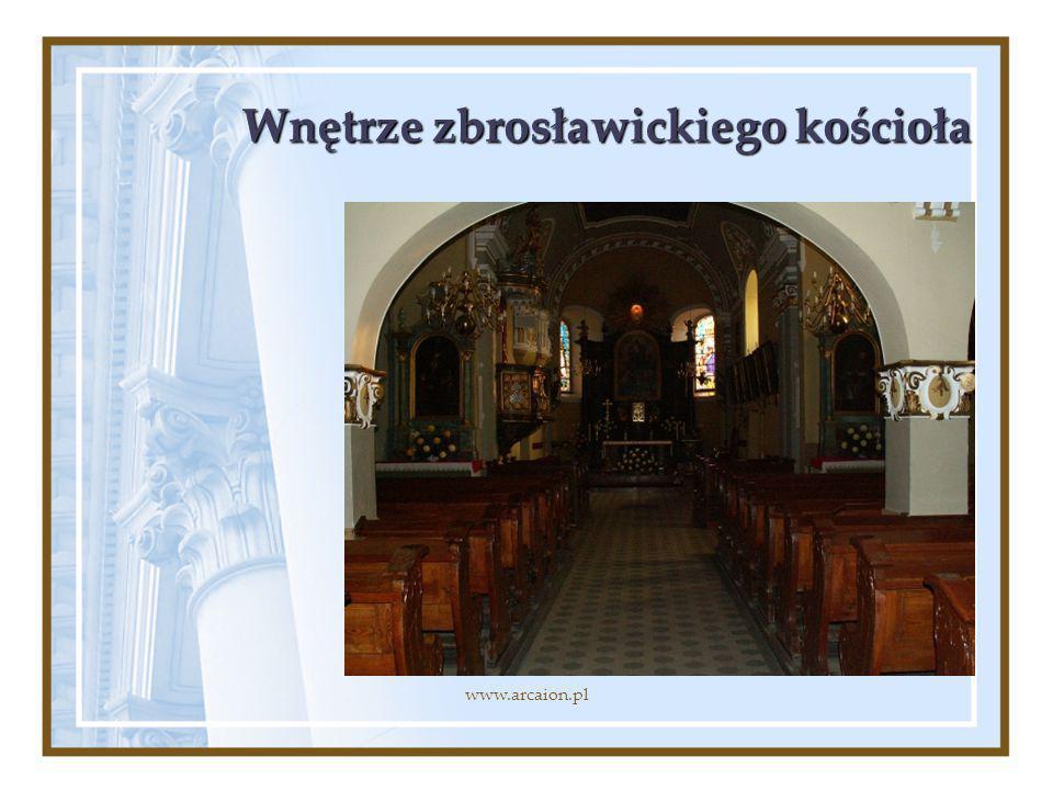 Wnętrze zbrosławickiego kościoła www.arcaion.pl