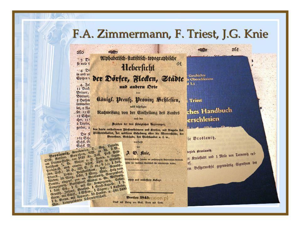 F.A. Zimmermann, F. Triest, J.G. Knie www.arcaion.pl
