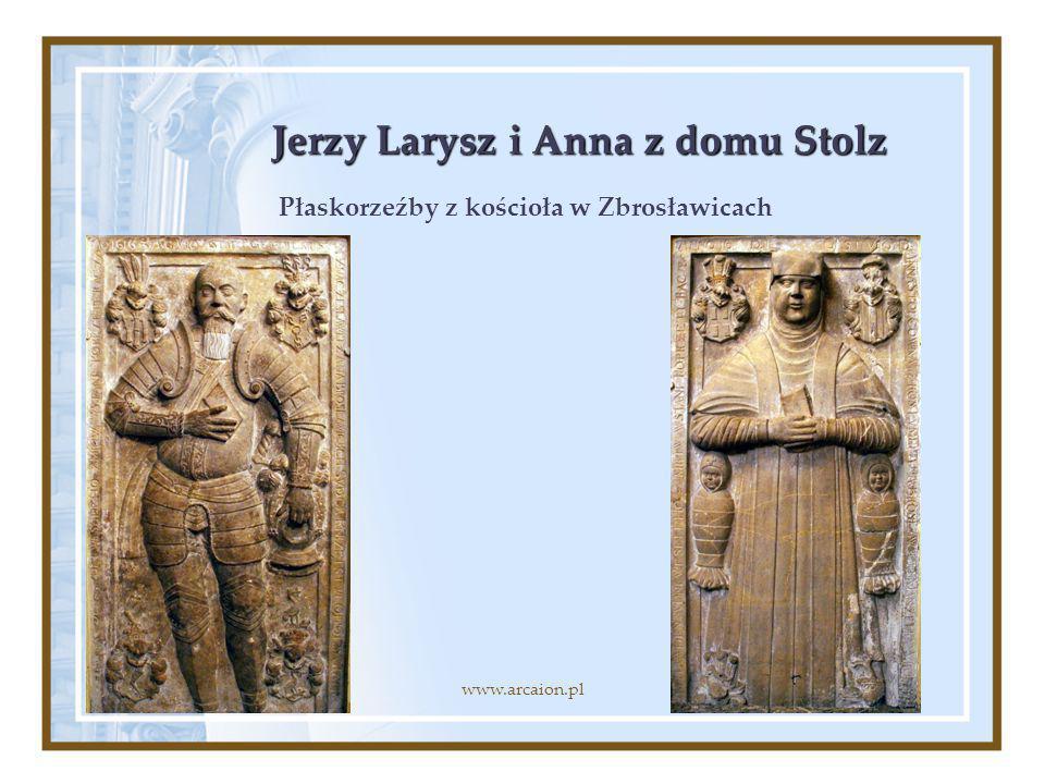 Jerzy Larysz i Anna z domu Stolz Płaskorzeźby z kościoła w Zbrosławicach www.arcaion.pl