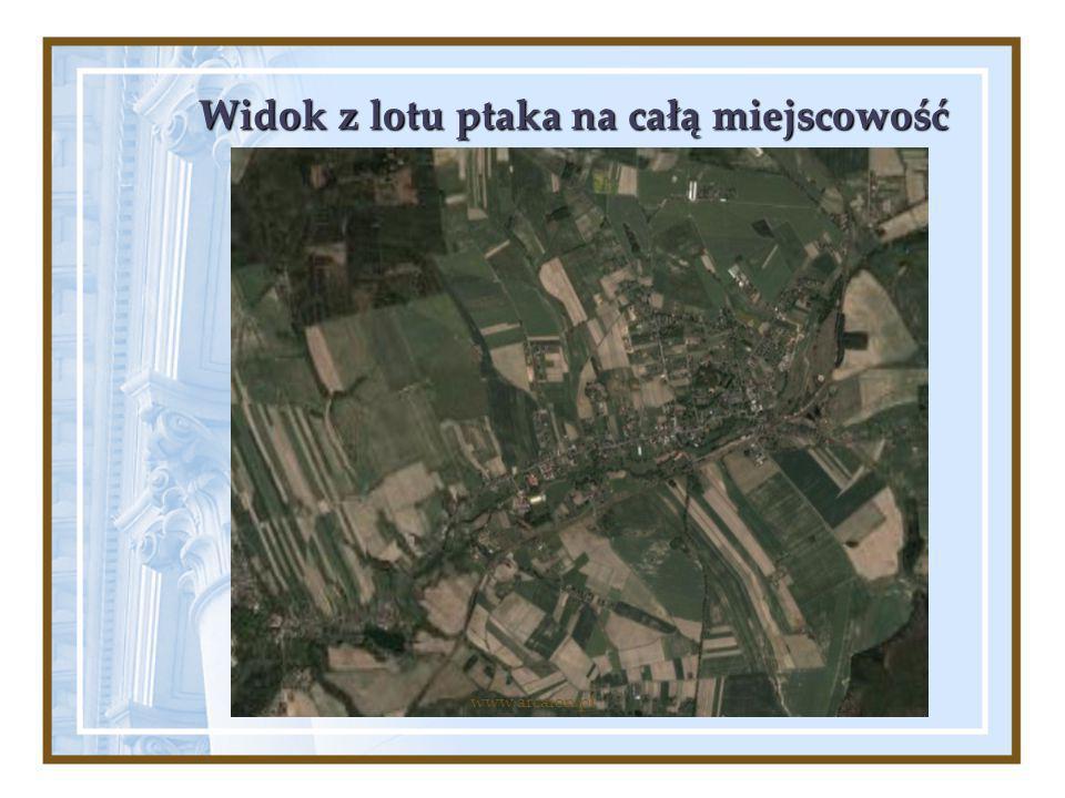 Widok z lotu ptaka na całą miejscowość www.arcaion.pl