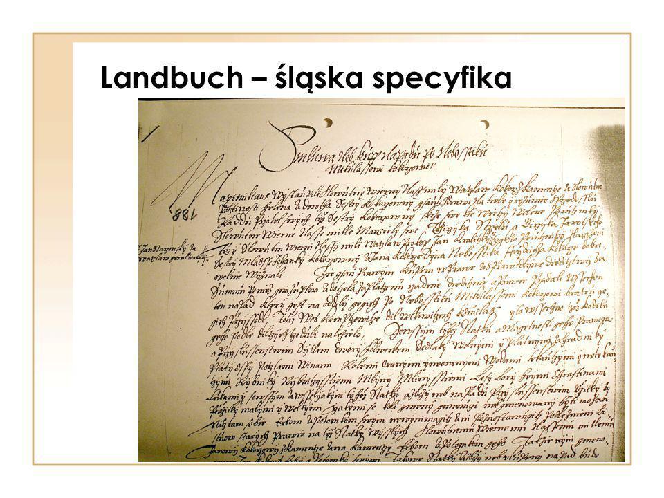 Landbuch – śląska specyfika
