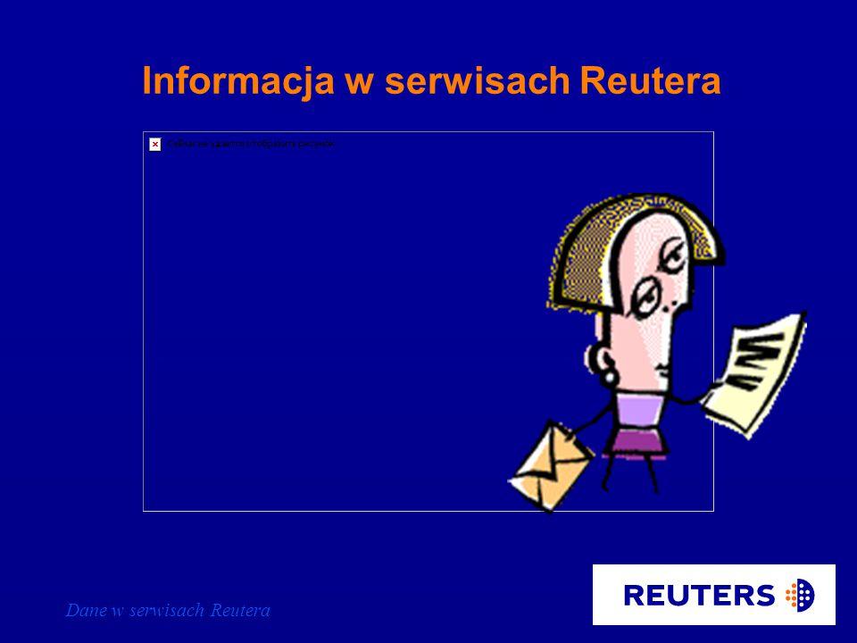 Dane w serwisach Reutera Informacja w serwisach Reutera