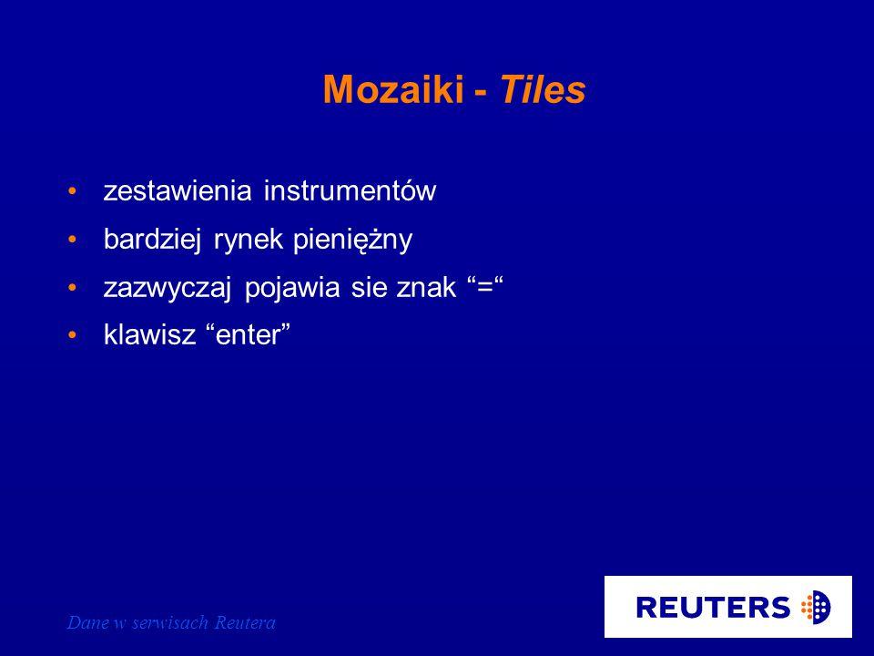Dane w serwisach Reutera Polskie obligacje - rynek międzybankowy PL10 ISIN = ISIN jest dostępny na stronie PLMF19 Oznaczenie kraju Znak równości Fragment ISIN kodu Zestawienia stron Ministerstwa Finansów - PLMINFIN - szukaj na spisie treści PL/GOVT2