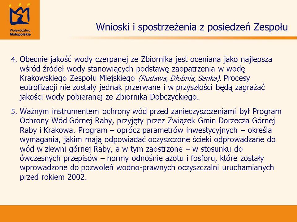 Wnioski i spostrzeżenia z posiedzeń Zespołu 6.6. Od 2002 r.