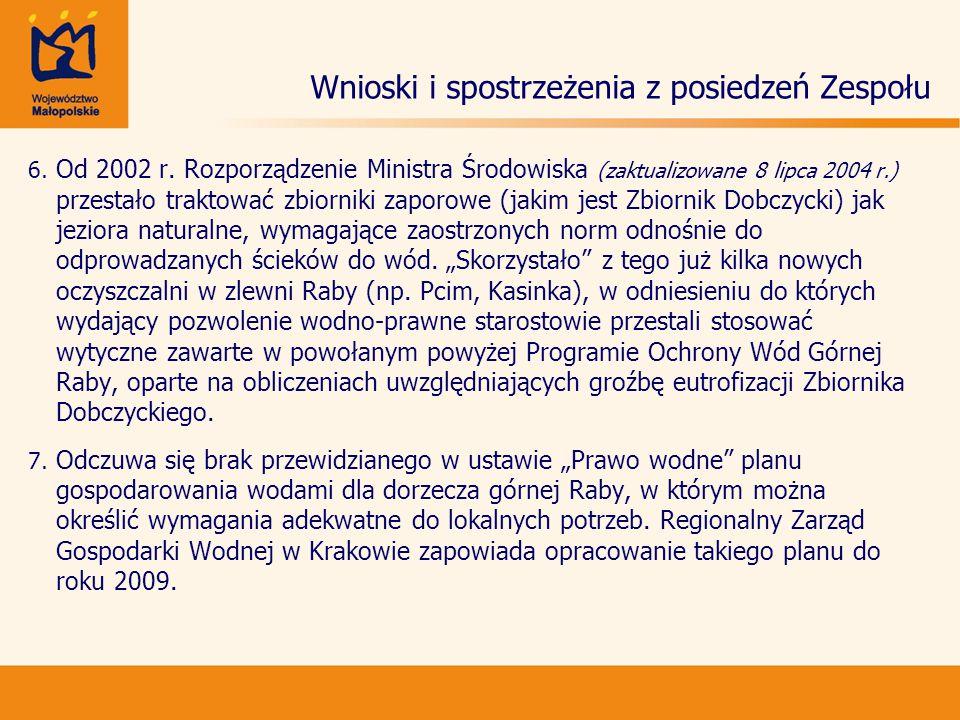 Wnioski i spostrzeżenia z posiedzeń Zespołu 8.8.
