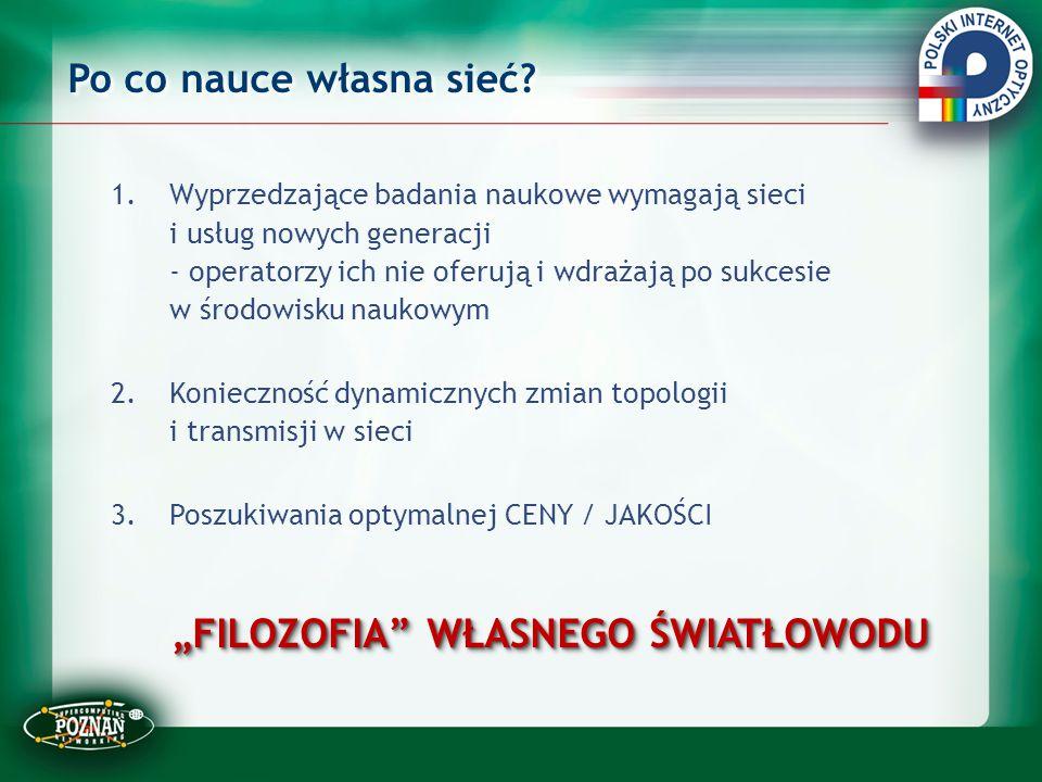 Otwartość: PIONIER – włókna regionalne Podłączenie PWSZ Bielsko-Biała Elbląg, Gniezno, Gorzów Wlkp., Konin, Legnica, Łomża, Piła, Sulechów, Słupsk, Tarnów, Zamość.